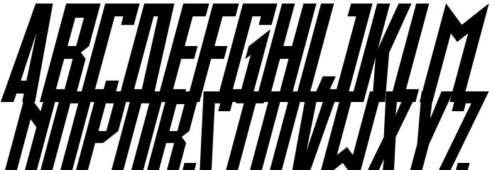 Slimbots Italic Шрифта строчной