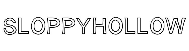 SloppyHollow  Free Fonts Download