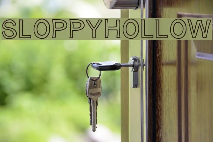 SloppyHollow لخطوط تنزيل examples