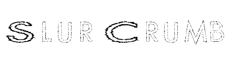 Slur Crumb  Free Fonts Download