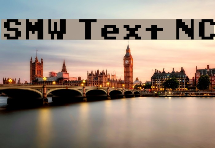 SMW Text NC Шрифта examples