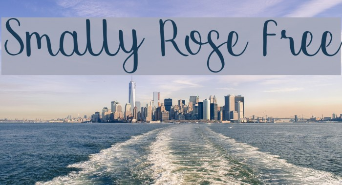 Smally Rose Free Font examples