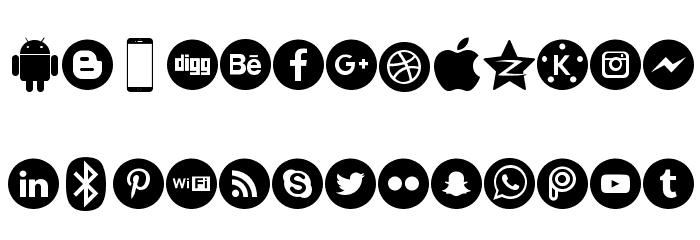 Smartphone Pro Schriftart Kleinbuchstaben