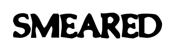 Smeared  नि: शुल्क फ़ॉन्ट्स डाउनलोड