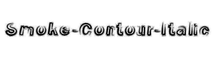 smoke-contour-italic font
