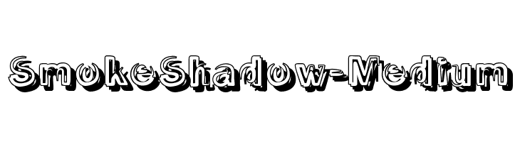 SmokeShadow-Medium  Free Fonts Download