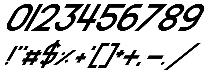 Smooth Circulars Italic Font OTHER CHARS