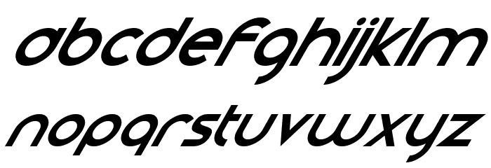 Smooth Circulars Italic Font UPPERCASE