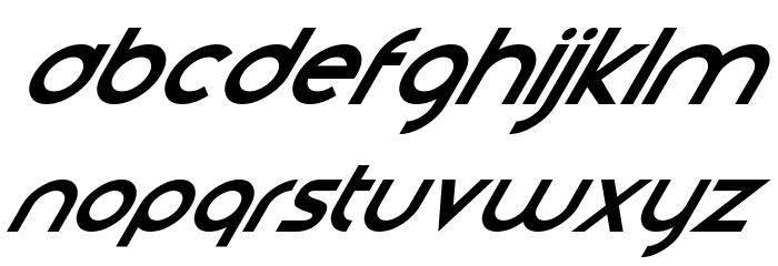 Smooth Circulars Italic Font LOWERCASE