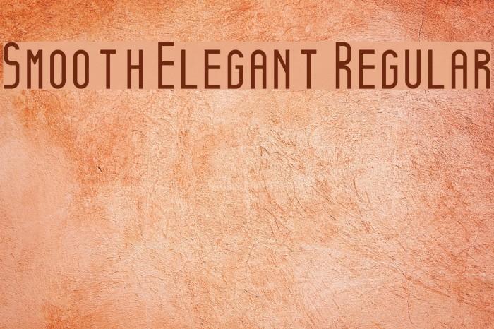 Smooth Elegant Regular Fonte examples