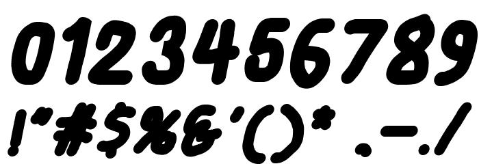 Smoothie Black Italic Шрифта ДРУГИЕ символов