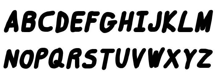 Smoothie Black Italic Шрифта ВЕРХНИЙ