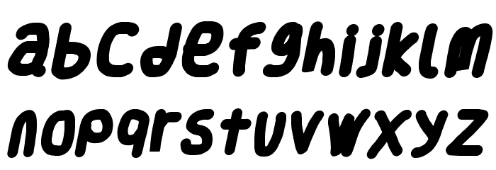 Smoothie Black Italic Шрифта строчной