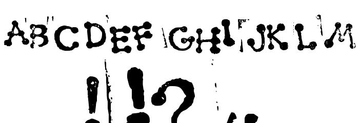 Smudgy Dot Stamps Schriftart Anderer Schreiben