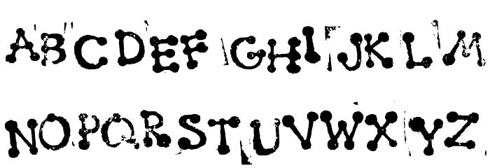 Smudgy Dot Stamps Schriftart Groß