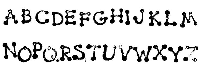 Smudgy Dot Stamps Schriftart Kleinbuchstaben