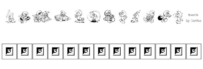 Smurf Font LOWERCASE