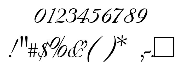SNC Script Italic Font OTHER CHARS