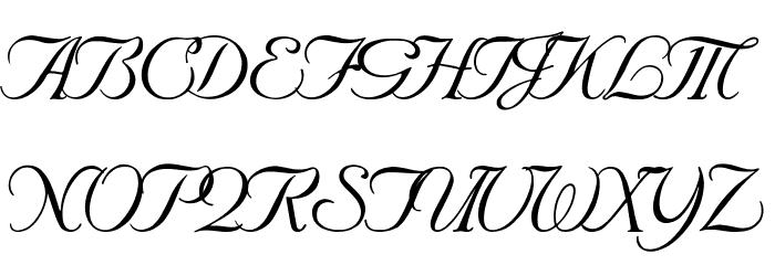 SNC Script Italic Font UPPERCASE