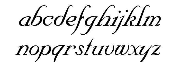 SNC Script Italic Font LOWERCASE