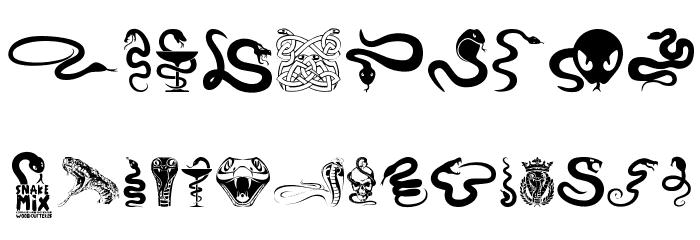 S Snake Font Snake Mix Font ...
