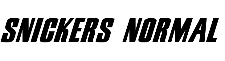 Snickers Normal  Free Fonts Download