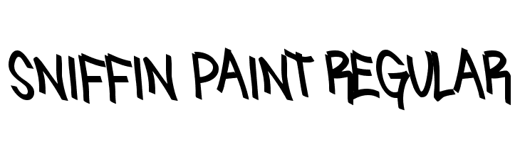 Sniffin Paint Regular  Free Fonts Download