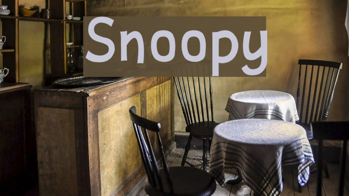 Snoopy Font examples
