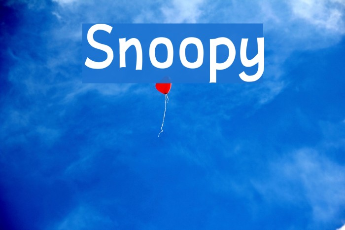 Snoopy Fonte examples