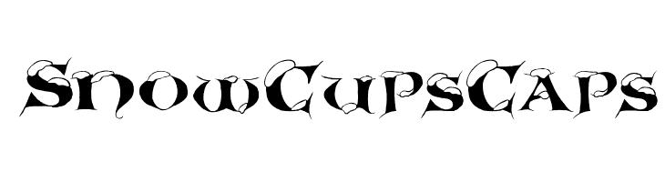 SnowCupsCaps  フリーフォントのダウンロード