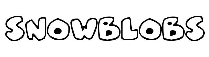 Snowblobs  baixar fontes gratis