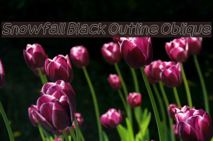 Snowfall Black Outline Oblique Fonte examples