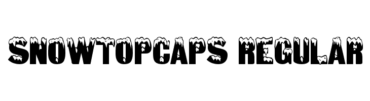 SnowtopCaps Regular  Descarca Fonturi Gratis