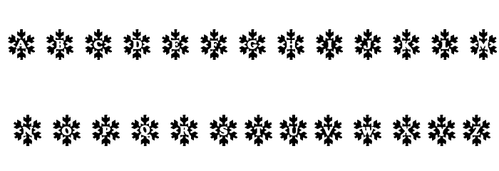 Snowy Caps Font UPPERCASE