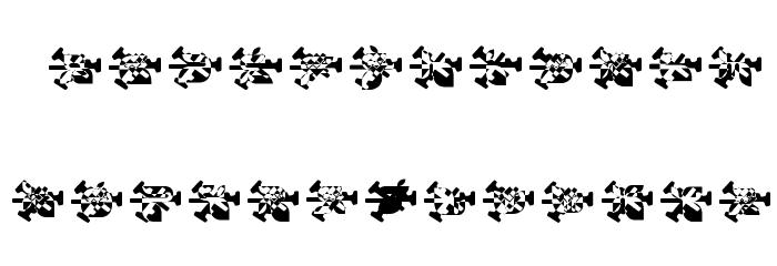 snowflake burst फ़ॉन्ट अपरकेस