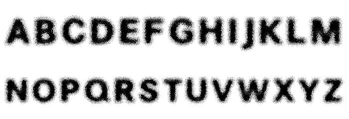 SOAK Font UPPERCASE