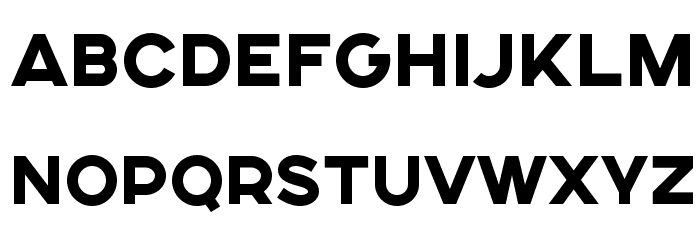SONGERSemiExpanded-Heavy Font UPPERCASE