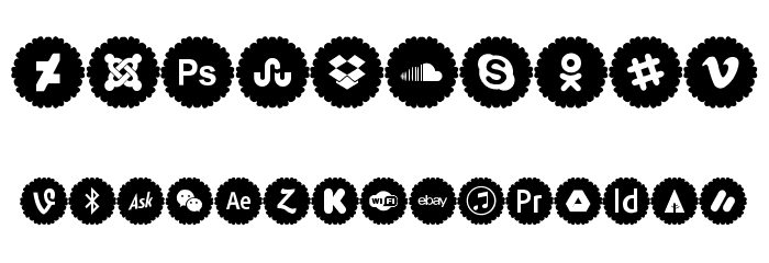 Social Icons Pro 2019 Font OTHER CHARS