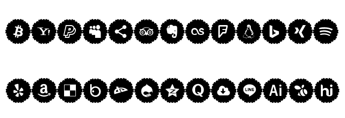 Social Icons Pro 2019 Font UPPERCASE