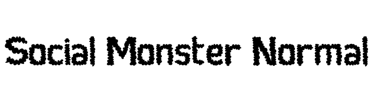 Social Monster Normal  baixar fontes gratis