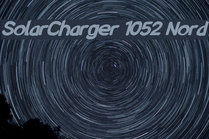 SolarCharger 1052 Nord Font examples