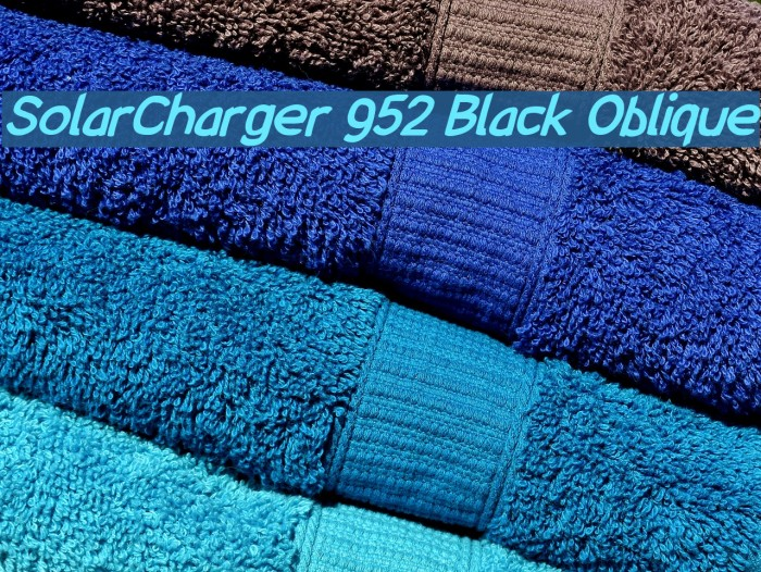 SolarCharger 952 Black Oblique Шрифта examples