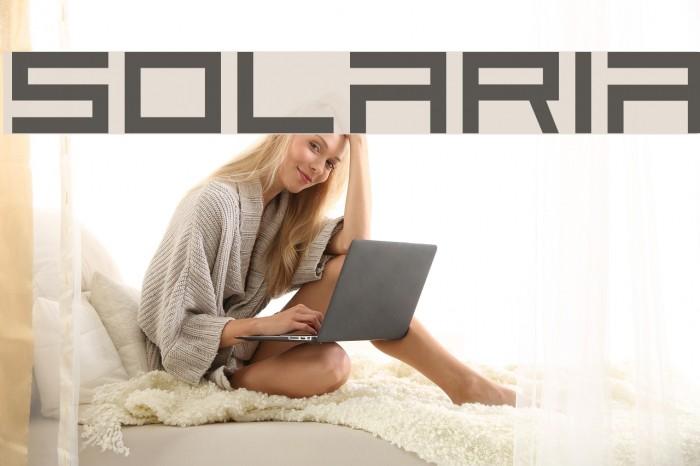 Solaria Font examples
