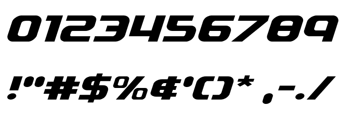 Soldier Expanded Italic Font OTHER CHARS