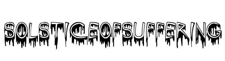 SolsticeOfSuffering  Free Fonts Download