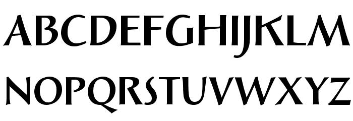 Solveig Bold Font UPPERCASE