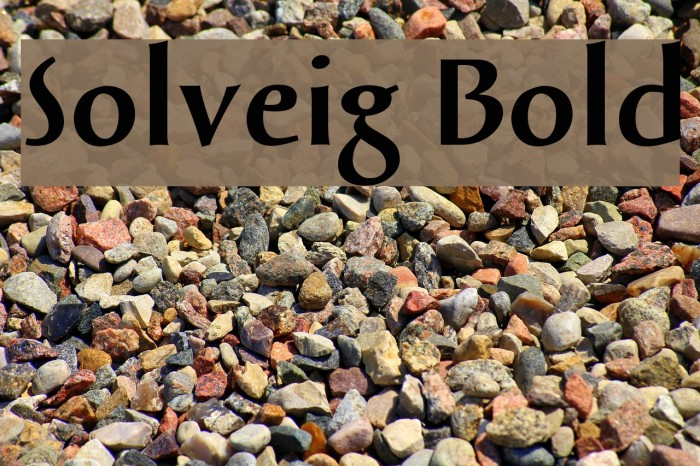 Solveig Bold Font examples