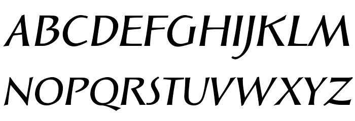 Solveig Demi Bold Italic Fonte MAIÚSCULAS