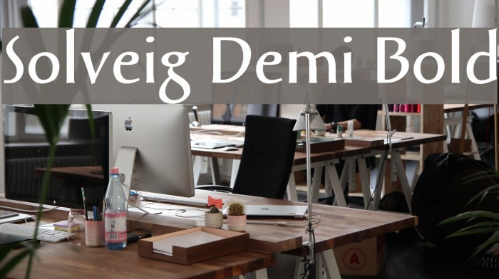 Solveig Demi Bold Font examples
