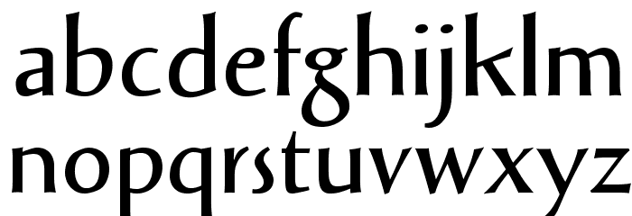 Solveig Demi Bold Font LOWERCASE